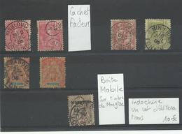 Indochine: Un Lot D'oblitérations Rares, Voir Scann - Indocina (1889-1945)