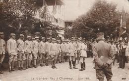 Carte Photo Suisse Fribourg -Le Géneral Pau à Charmey Juin 1917 - Guerre 14-18 - Oorlog 1914-18