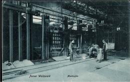 ! Alte Ansichtskarte 1906 Peine, Peiner Walzwerk, Montanindustrie, Acierie, Steel Industry, Martinofen, Lübeck - Peine