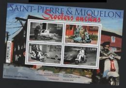 St Pierre Et Miquelon °° 2018 Bloc Scooters Anciens  / SPM - Blocks & Sheetlets