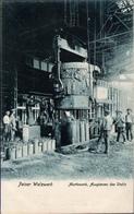! Alte Ansichtskarte 1906 Peine, Peiner Walzwerk, Stahl Montanindustrie, Acierie, Steel Industry, Martinwerk - Peine