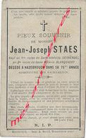 Hazebrouck  (59) Jean-Joseph  STAES Ep Adelaïde DEGRENDEL Et Mélanie BLANQUAERT - Décès