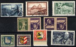 Suiza Nº 242b/243, 246/9, 238 Y 244/5. Año 1929/30 - Ungebraucht