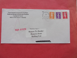 Lyon  CNRS SAINT LOUIS  RETURN TO SENDER REMOVE FROM MAILING LIST Marianne - Marcofilie