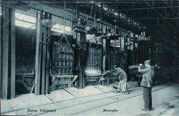 ! Alte Ansichtskarte  Peine, Peiner Walzwerk, Stahl Montanindustrie, Acierie, Steel Industry, Martinofen - Peine