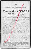 En 1955- BAILLEUL  (59)  Hélène STAES Ep Victor GELON 87 Ans - Décès