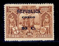 ! ! Congo - 1913 Vasco Gama On Timor 10 C - Af. 97 - MH - Congo Portugais
