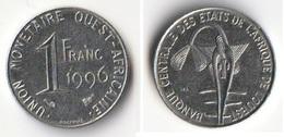 Piece 1 Franc 1996 Afrique De L'Ouest Origine Cote D'Ivoire - Ivoorkust