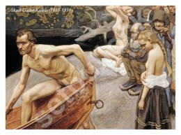 Ukraine   Postcard   Painting By Akseli Gallen-Kallela   Finnish Painter   Nude Girls Womens Vintage - Tableaux