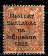 IRL+ Irland 1922 Mi 15 Aufdruck - 1922-37 Stato Libero D'Irlanda