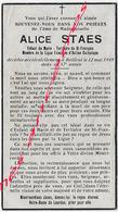 En 1949- BAILLEUL  (59)  Alice STAES Enfant De Marie Tertiaire St François-action Catholique 57 Ans - Décès