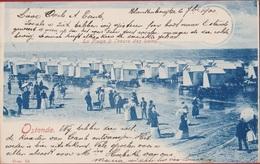 Oostende Ostende Zeer Vroege Kaart La Plage A L' Heure Des Bains Standkabines 1900 En Très Bon état In Zeer Goede Staat - Oostende