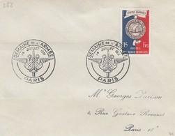 FRANCE - LETTRE CACHET COMMÉMORATIF SEMAINE DE L'ARMEE  PARIS 14.7.1951  - Yv N°906   /1 - Marcophilie (Lettres)