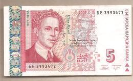 Bulgaria - Banconota Circolata Da 5 Leva P-116b - 2009 - Bulgarije