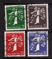 SWITZERLAND SUISSE SCHWEIZ SVIZZERA 1939 NATIONAL EXHIBITION ZURICH TREE CROSSBOY FRENCH COMPLETE SET MNH - Nuovi