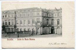 CPA - Carte Postale - Belgique - Bruxelles - Entrée Du Musée Moderne - 1902 (B9294) - Musées