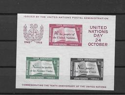1955 MNH UNO New York, Block 1, Type 1,  Postfris** - New York - Sede Centrale Delle NU