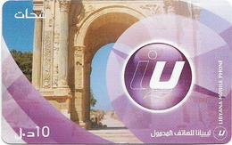 Libya - Libyana - Leptis Magna, Arch Septimius Severus, 10LD Prepaid Card, Used - Libya