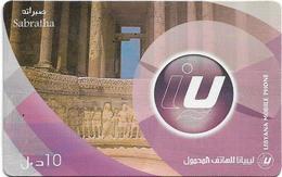 Libya - Libyana - Sabratha Ancient City, 10LD Prepaid Card, Used - Libya