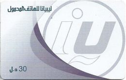 Libya - Libyana - Logo In White Font, 30LD Prepaid Card, Used - Libye