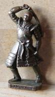 MONDOSORPRESA, (SLDN°73) KINDER FERRERO, SOLDATINI IN METALLO SAMURAI  4 GIAPPONESI 1600 - SCAME 40 MM BRUNITO - Figurine In Metallo