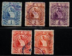 Q921.-.  GUATEMALA 1886. SC#: 31 // 36. USED - QUETZAL . SCV: US$ 8.00 ++ - Guatemala