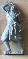MONDOSORPRESA, (SLDN°75) KINDER FERRERO, SOLDATINI IN METALLO SAMURAI 4 GIAPPONESI 1600 -K 93 N142 40 MM VECCHIO ARGENTO - Figurine In Metallo