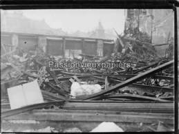 PHOTO  BELFORT 1940 INCENDIE GRAND MAGASIN (probablement GALERIES MODERNES En JANVIER) (1) - Belfort - Ciudad