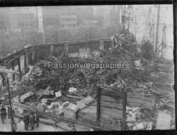PHOTO  BELFORT 1940 INCENDIE GRAND MAGASIN (probablement GALERIES MODERNES En JANVIER) (2) - Belfort - Ciudad