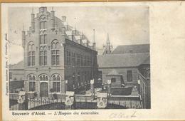 6ik-550:  ..Alost: L'Hospice Des Incurables > Verstuurd > * HAESDONCK * : Sterstempel - Aalst