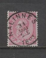 COB 46 Oblitération Centrale NALINNES - 1884-1891 Léopold II