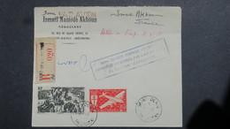 Lettre Signée Decaris Recommandé De Issac Akhoum St Denis Reunion 1947 100e Liaison Postale Réunion Madagascar - Réunion (1852-1975)