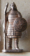 MONDOSORPRESA, (SLDN°85) KINDER FERRERO, SOLDATINI IN METALLO MONGOLI 1600 RP 1482 N° 2 - Figurines En Métal