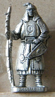 MONDOSORPRESA, (SLDN°87) KINDER FERRERO, SOLDATINI IN METALLO MONGOLI 1600 RP 1482 N° 1 - Figurines En Métal