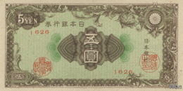 Japan 5 Yen (P86) 1946 -UNC- - Japon