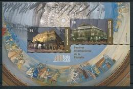 TEATRO ALLA SCALA - TEATRO COLON. EXPOSICION FILATELIA ITALIA 2009. ARGENTINA JALIL 207 HOJA BLOQUE FEUILLET MNH -LILHU - Arquitectura