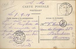6ik-548: S.M Uit CRUYBEKE 7 IX 1914 > Berchem (Anvers) 8 IX 1914 : Pk: BASEL De Melkerij-La Laiterie - WW I