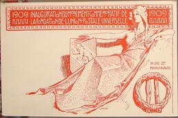 Schweiz Suisse 1909: INAUGURATION DU MONUMENT COMMEMORATIVE DE L'UPU 10c. Ungebraucht - Non Circulé - U.P.U.