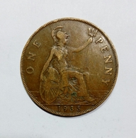 GREAT BRITAIN / GRAN BRETAGNA - One Penny ( 1935 ) GEORGE V - 1902-1971 : Monete Post-Vittoriane