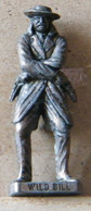 MONDOSORPRESA, (SLDN°91) KINDER FERRERO, SOLDATINI IN METALLO COWBOY 1° WILD BILL  VECCHIO BRUNITO E OTTONE - Metal Figurines