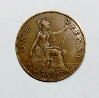 GREAT BRITAIN / GRAN BRETAGNA - One Penny ( 1936 ) GEORGE V - 1902-1971 : Monete Post-Vittoriane
