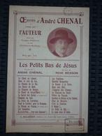 Partition: André Chenal: Les Petits Bas De Jésus/ Billaudot, éditeur - Musik