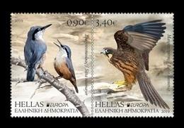 Greece 2019 Mih. 3050A/51A Europa. National Birds. Fauna. Western Rock Nuthatch And Eleonora's Falcon MNH ** - Grèce