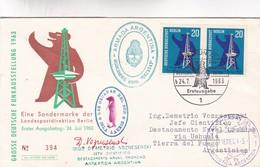 1964 COVER: EINE SONDERMARKE DER LANDESPOSTDIREKTION BERLIN ERSTER AUSGABETAG, ANTARCTICA ARGENTINE... - BLEUP - Autres