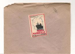 Erinnophilie - Cachet Le Havre / Paris - 1929 - Visitez Son Port , Ses Paquebots - Vignette Foire De Marseille - Phila° - Commemorative Labels