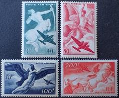 R1615/134 - 1946 - POSTE AERIENNE - SERIE MYTHOLOGIQUE (COMPLETE) - N°16 à 19 NEUFS** - 1927-1959 Mint/hinged