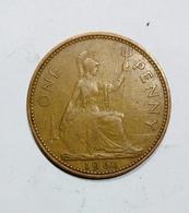 GREAT BRITAIN / GRAN BRETAGNA - One Penny ( 1961 ) Elizabeth II - D. 1 Penny