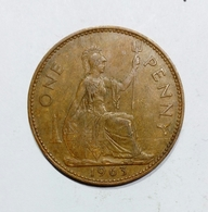 GREAT BRITAIN / GRAN BRETAGNA - One Penny ( 1963 ) Elizabeth II - 1902-1971 : Monete Post-Vittoriane