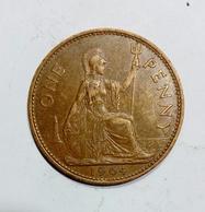 GREAT BRITAIN / GRAN BRETAGNA - One Penny ( 1964 ) Elizabeth II - 1902-1971 : Monete Post-Vittoriane