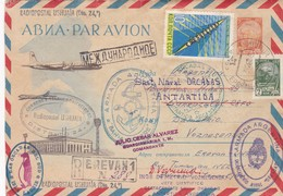 1962 ENTIER STATIONERY RUSSIA, CIRCULEE TO DESTAC NAVAL ORCADAS, ARGENTINE MIXED MARKS ANTARCTICA.. - BLEUP - Autres